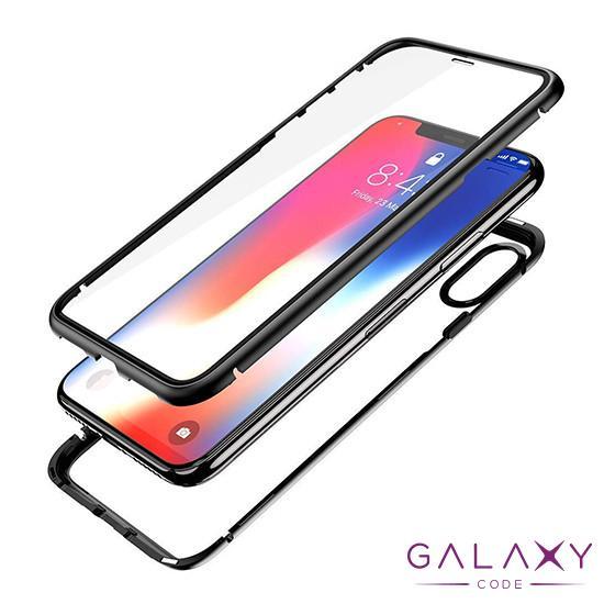 Futrola Full Cover magnetic frame za Samsung G973F Galaxy S10 crna