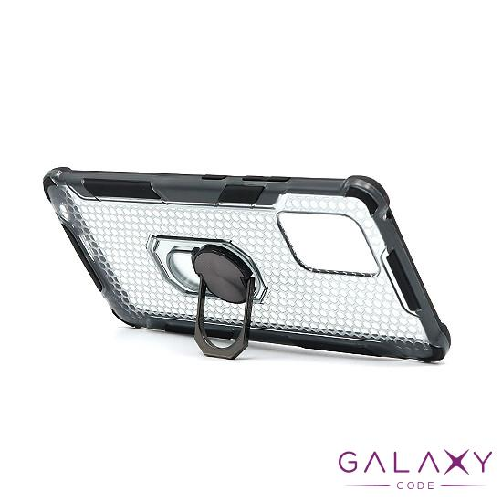 Futrola DEFENDER RING CLEAR za Samsung G770F/A915F Galaxy S10 Lite/A91 crna