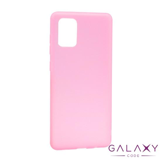 Futrola silikon RUBBER za Samsung A715F Galaxy A71 roze