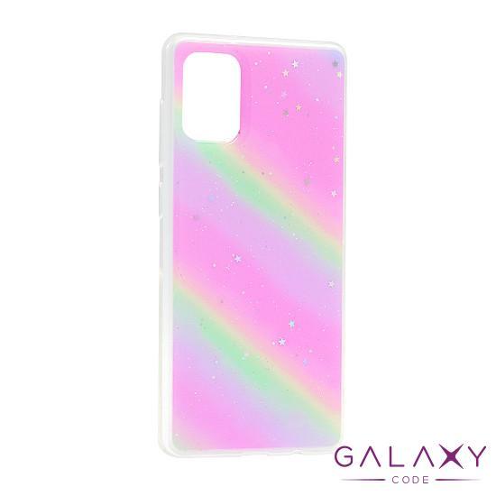Futrola Sparkly star za Samsung A715F Galaxy A71 rainbow DZ01