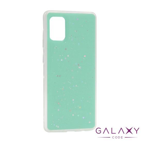Futrola Sparkly star za Samsung G985F Galaxy S20 Plus tirkizna