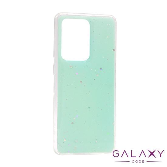 Futrola Sparkly star za Samsung G988F Galaxy S20 Ultra tirkizna