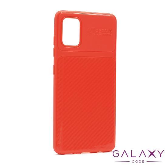 Futrola silikon ELEGANT CARBON za Samsung A415F Galaxy A41 crvena