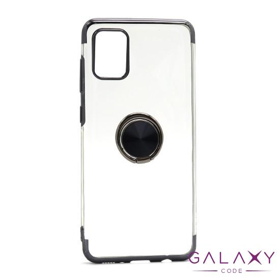 Futrola MAGNETIC RING CLEAR za Samsung A315F Galaxy A31 crna