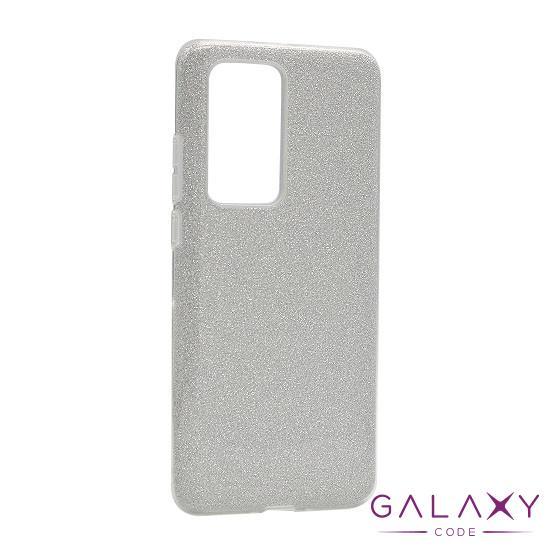 Futrola silikon GLITTER SHOW YOURSELF za Huawei P40 Pro srebrna