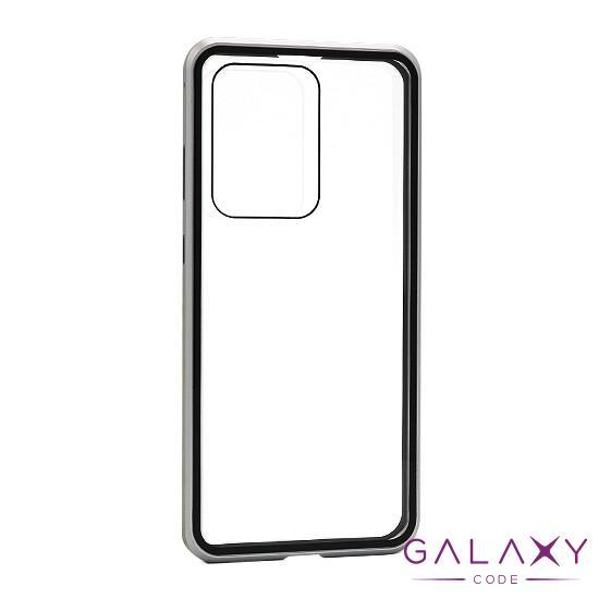 Futrola Full Cover magnetic frame za Samsung G988F Galaxy S20 Ultra srebrna