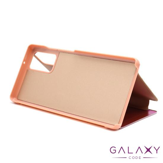 Futrola BI FOLD CLEAR VIEW za Samsung Galaxy Note 20 roze