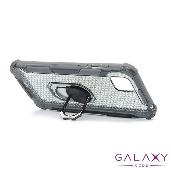 Futrola DEFENDER RING CLEAR za Huawei Y5p siva
