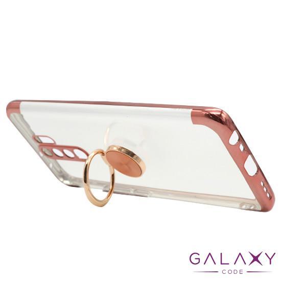 Futrola MAGNETIC RING CLEAR za Xiaomi Redmi 9 roze