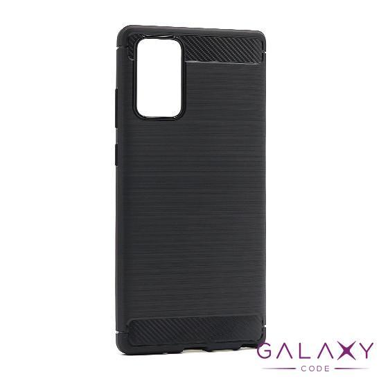 Futrola silikon BRUSHED za Samsung Note 20 crna