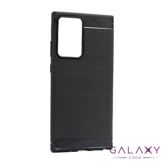 Futrola silikon BRUSHED za Samsung Note 20 Ultra crna