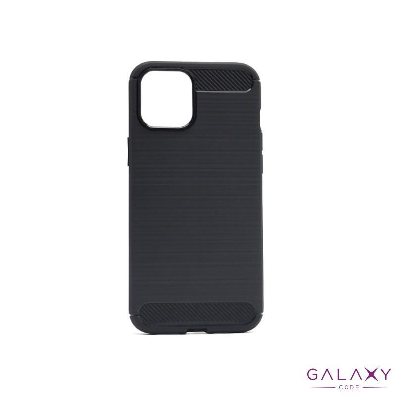 Futrola silikon BRUSHED za Iphone 12 6.7crna