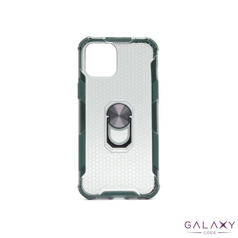 Futrola DEFENDER RING CLEAR za Iphone  12 Pro Max (6.7) tamno zelena