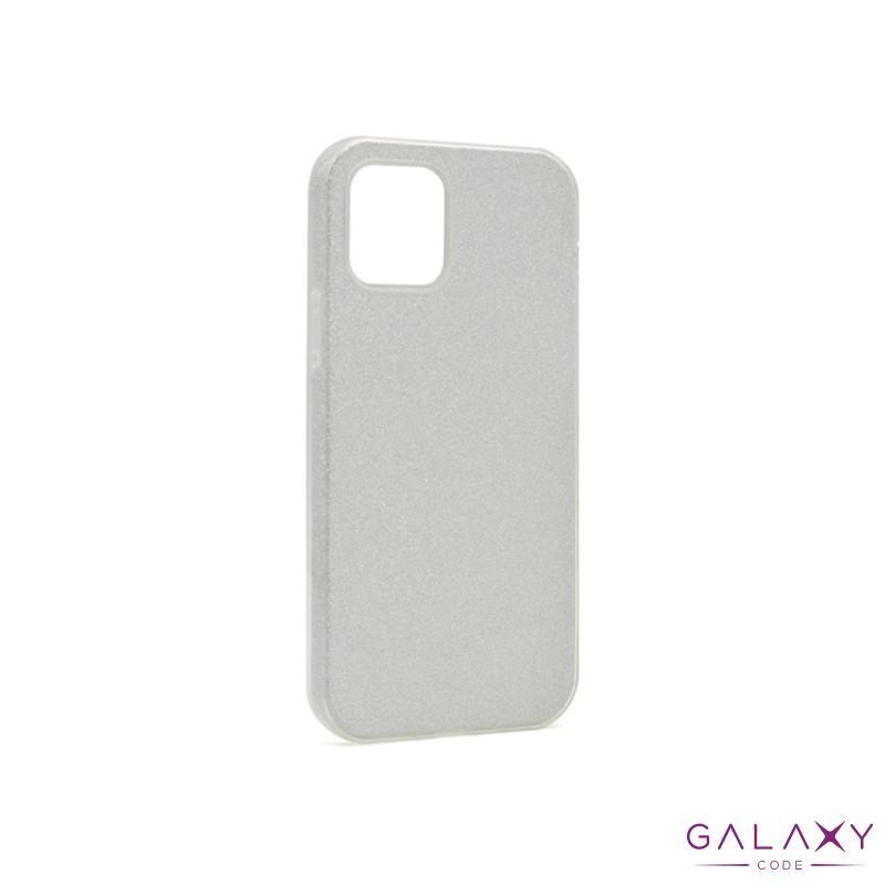 Futrola silikon GLITTER SHOW YOURSELF za Iphone 12/12 Pro (6.1) srebrna