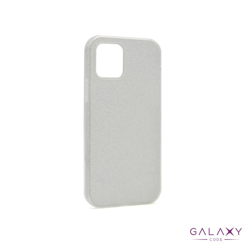 Futrola silikon GLITTER SHOW YOURSELF za Iphone 12 Pro Max (6.7) srebrna