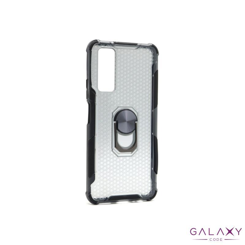 Futrola DEFENDER RING CLEAR za Huawei P Smart 2021/Y7a crna
