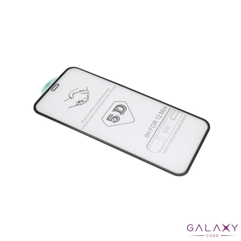 Folija za zastitu ekrana GLASS 5D za Iphone 12 Mini (5.4) crna