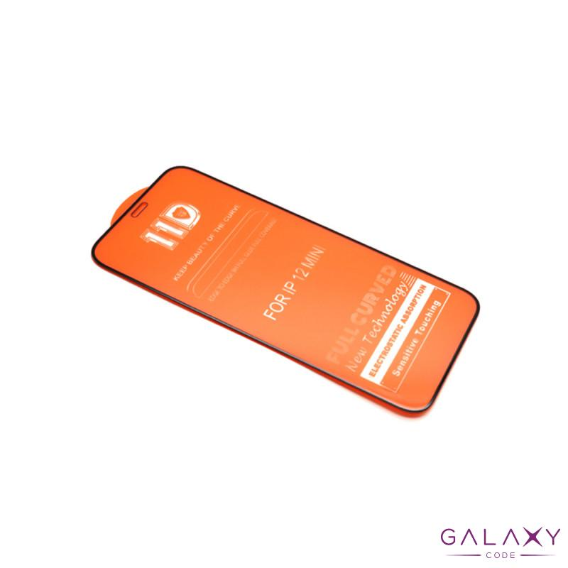Folija za zastitu ekrana GLASS 11D za Iphone 12 Mini (5.4) crna