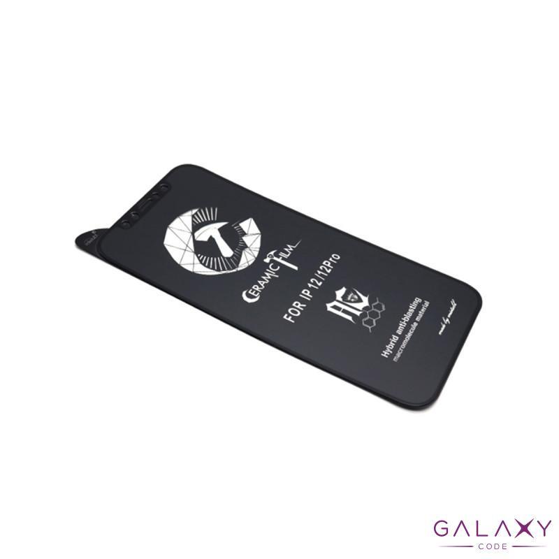 Folija za zastitu ekrana CERAMIC (PMMA) za Iphone 12/12 Pro (6.1) crna