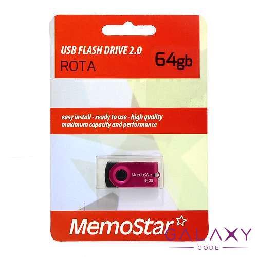 USB Flash memorija MemoStar 64GB ROTA pink