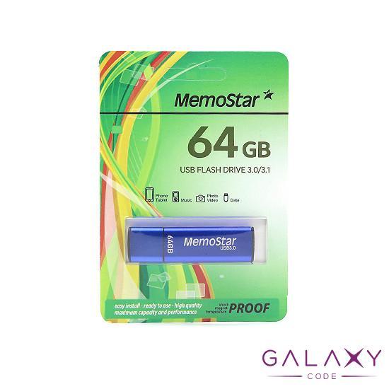 USB Flash memorija MemoStar 64GB CUBOID 3.0 plava