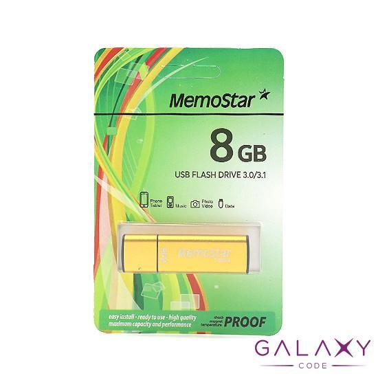 USB Flash memorija MemoStar 8GB CUBOID 3.0 zlatna