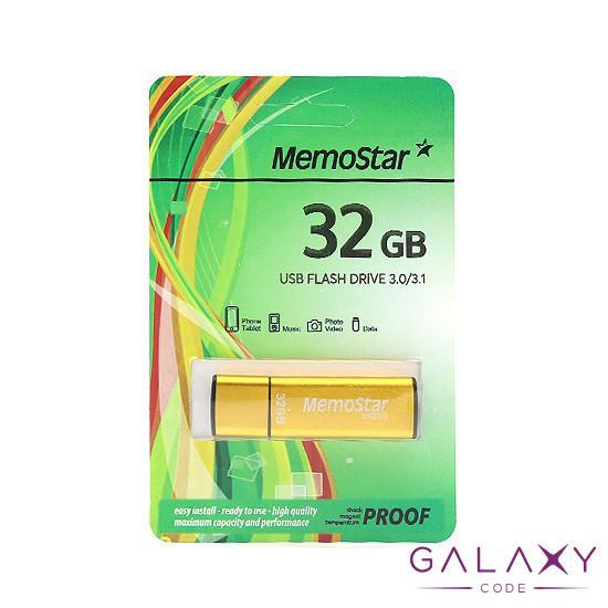 USB Flash memorija MemoStar 32GB CUBOID 3.0 zlatna