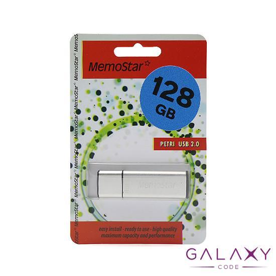 USB Flash memorija MemoStar 128GB CUBOID 2.0 srebrna
