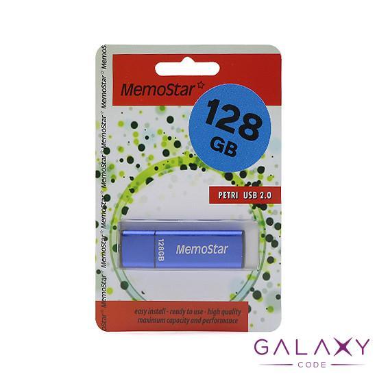 USB Flash memorija MemoStar 128GB CUBOID 2.0 plava