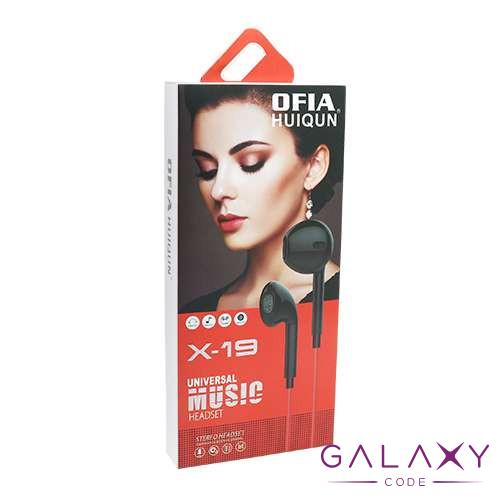 Handsfree slusalice OFIA univerzalne 3.5mm X-19 bele