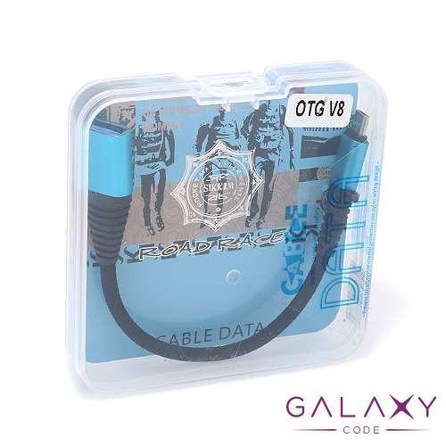 OTG kabal micro USB NEW crno-plavi