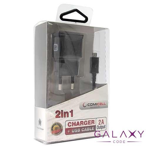 Kucni punjac Comicell Extreme za Samsung I9500 Galaxy S4 2in1 2A black