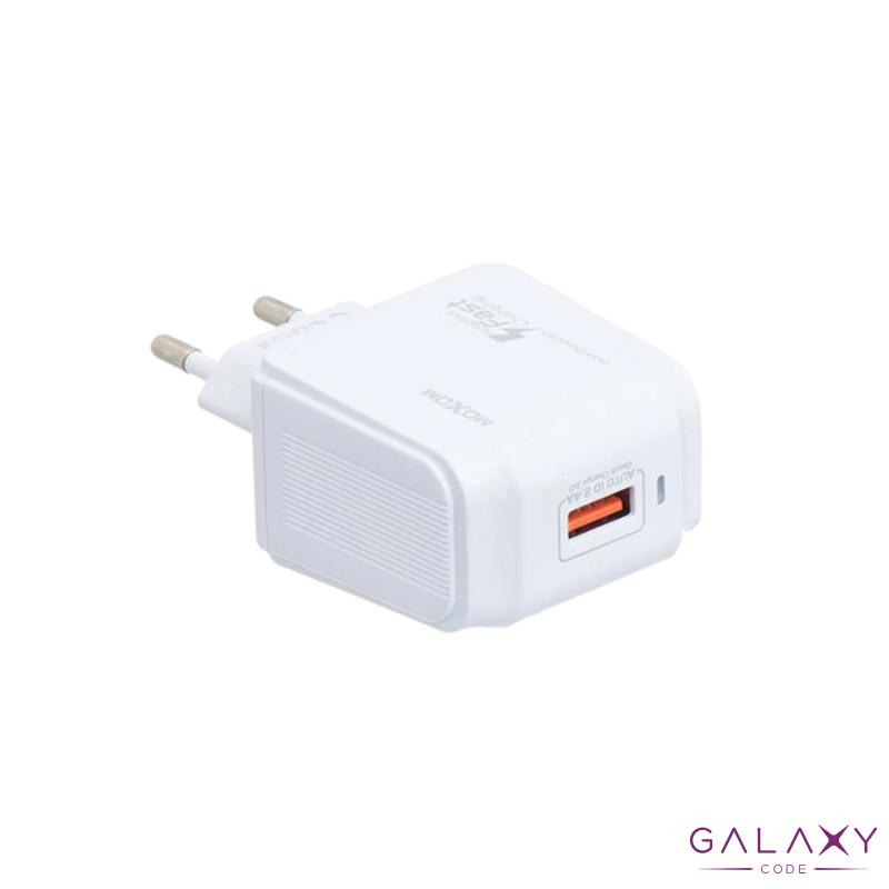 Kucni punjac Moxom MX-67Y QC 3.0 Fast type C beli