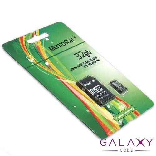 Memorijska kartica MemoStar Micro SD 32GB Class 10 UHS + SD adapter