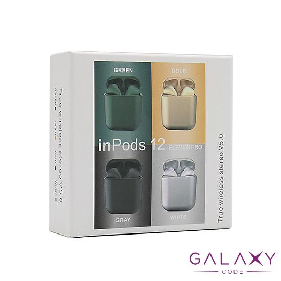 Slusalice Bluetooth Airpods InPods 12 metalic siva