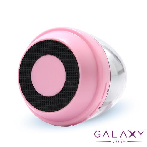 Zvucnik M28 ambient light Bluetooth roze